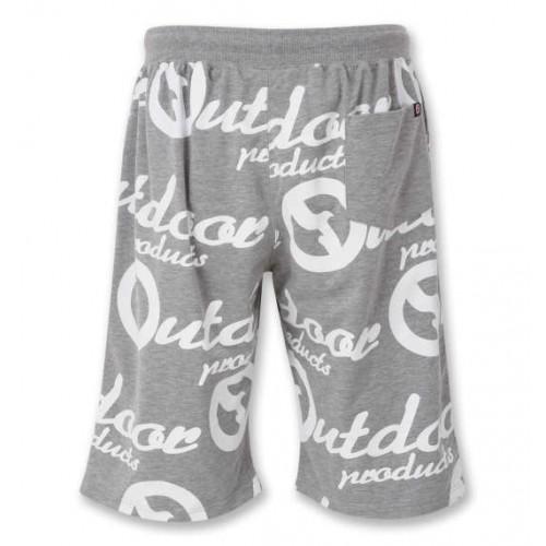 Logo Pattern Relaxing Shorts - Grey