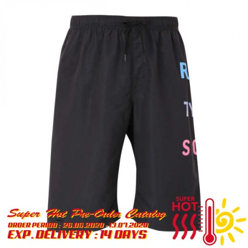 Velcro Flap Pocket Surf Pants - Black