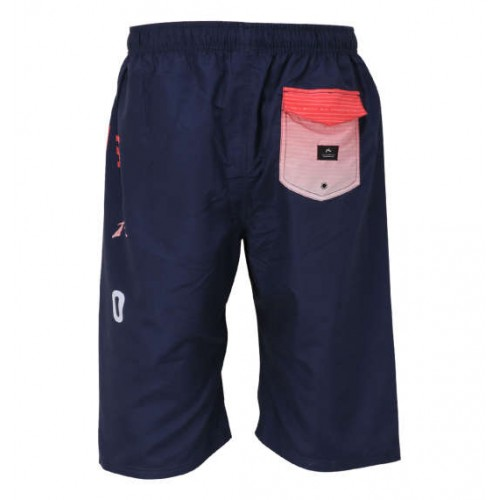 Velcro Flap Pocket Surf Pants - Navy
