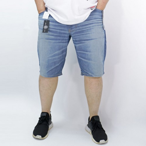 Denim Jersey Shorts - Medium Washed