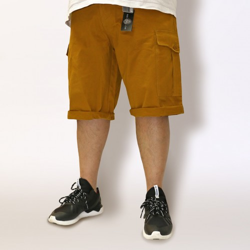 Classic Fit Chino Cargo Shorts - Mustard
