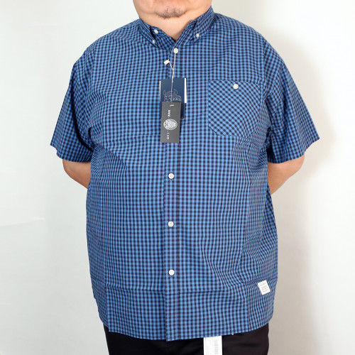 Gingham Check Shirt - Navy/Blue