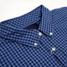 Gingham Check Shirt - Navy/Blue