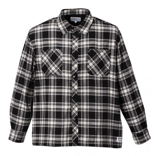 Fleece Long Sleeve Check Shirt - Black/White