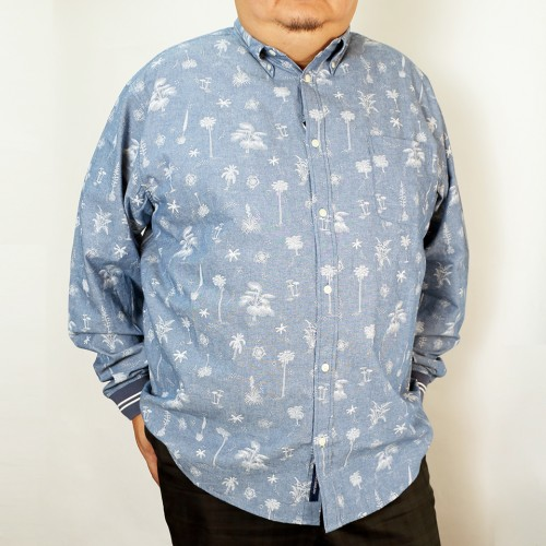 Sports Cuff Button Down - Hawaii Sea