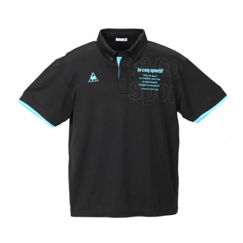 Dry Pin Mesh Short Sleeve Polo Shirt - Black
