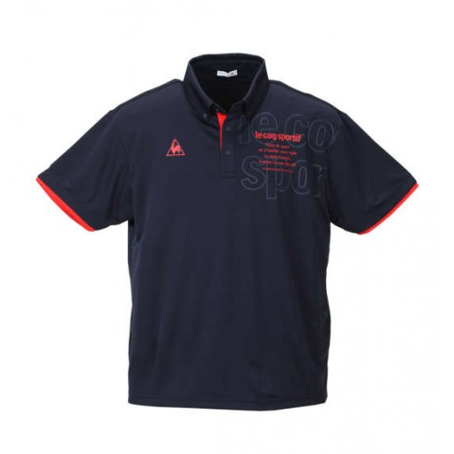 Dry Pin Mesh Short Sleeve Polo Shirt - Navy