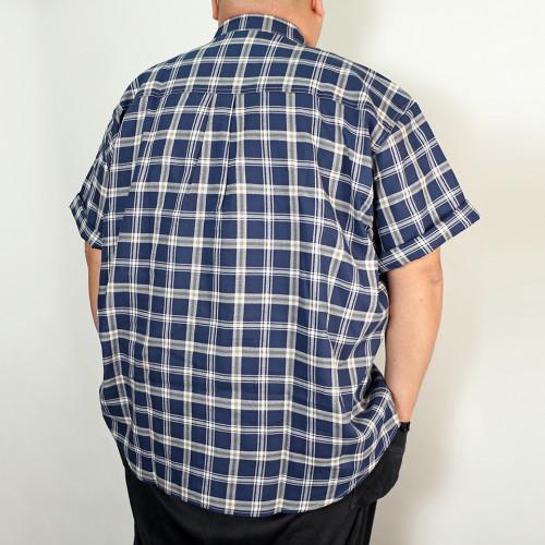 Panama Check Shirt - Navy