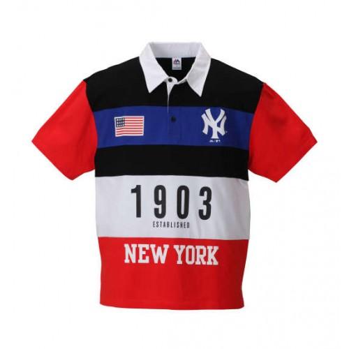 NY 1903 Polo Shirt - Black/Red