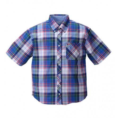Madras Check BD Short Sleeve Shirt - Blue