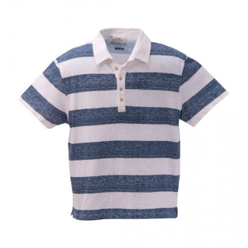 Five Buttons Polo Shirt - Blue
