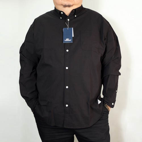 Stretch Oxford Shirt - Black