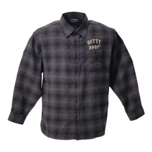 Electric Guitar X Betty Flannel Shirt - Charcoal