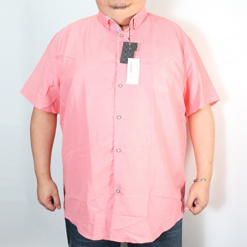 Casual Slim Collar Button Down - Pink