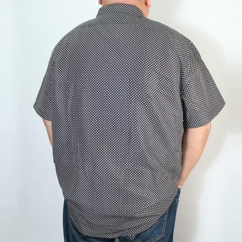 Casual Slim Collar Button Down - Black