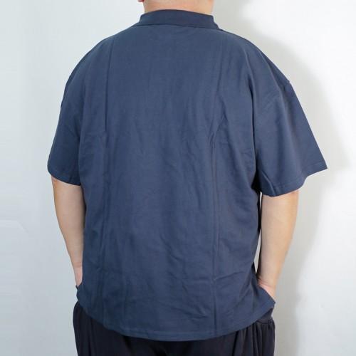 Left Chest Logo Polo Shirt - Navy