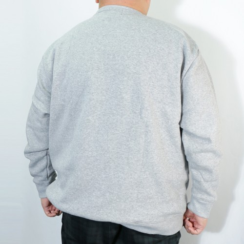 Simple Logo Fleece Crew Trainer - Grey
