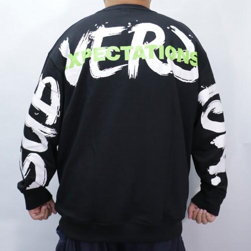 Big Logo Drawing Sweater - Black