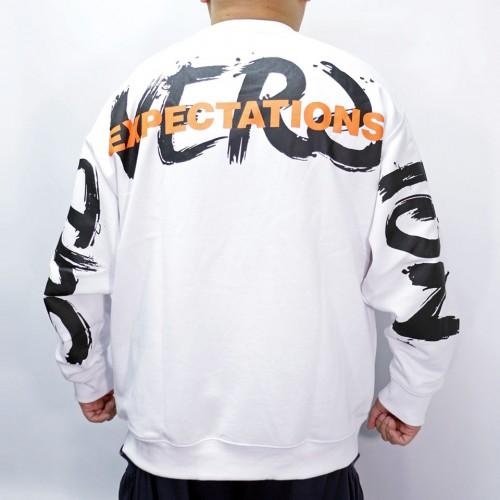 Big Logo Drawing Sweater - White