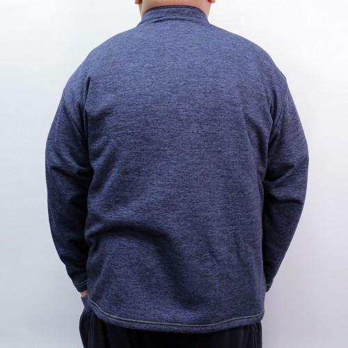 Heather Microfleece Sweatshirt - Navy