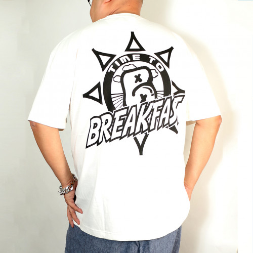 Time To Breakfast Tee - White
