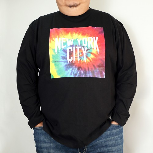 Tie-Dye New York City Tee - Black