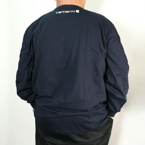 Original Fit Long Sleeve Tee - Navy