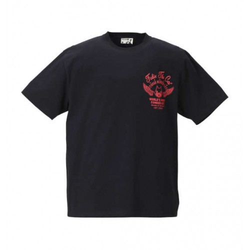 Embroidery Short Sleeve Tee - Black/Red