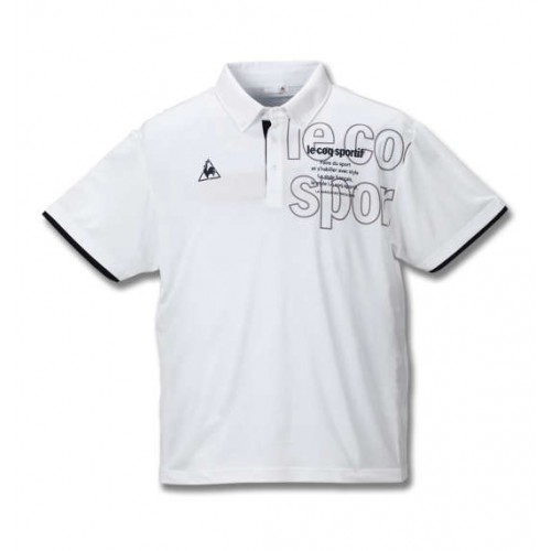 Dry Pin Mesh Short Sleeve Polo Shirt - White