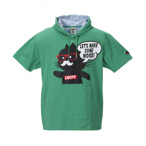 Black Cat Short Sleeve Tee Parker - Green