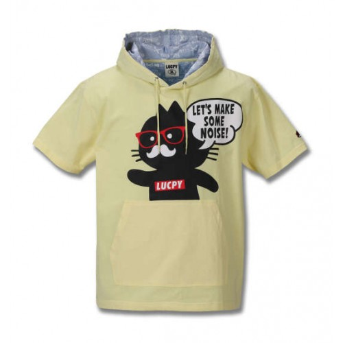 Black Cat Short Sleeve Tee Parker - Yellow