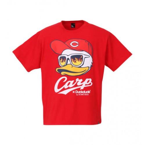 Hiroshima Toyo Carp X DUCK DUDE FACE Tee - Red