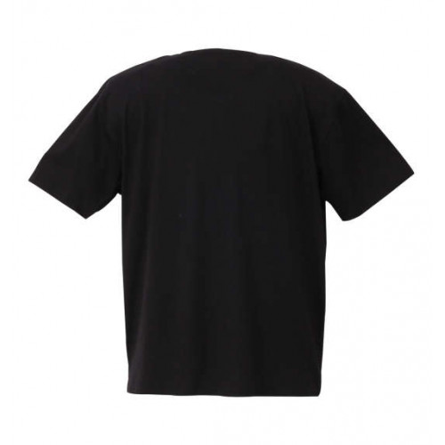 Block Embroidery Tee - Black
