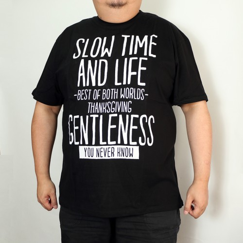 Slow Time And Life Tee - Black