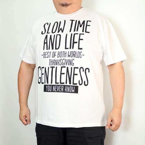 Slow Time And Life Tee - White