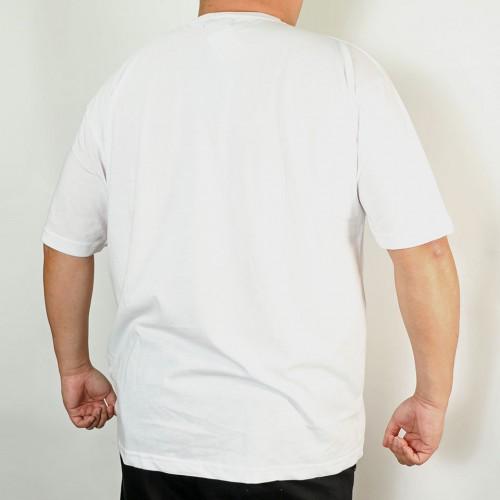 Overlapping Logo Tee - White