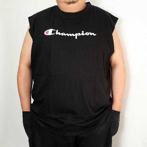 Basic Muscle Script Logo Tank Top - Black