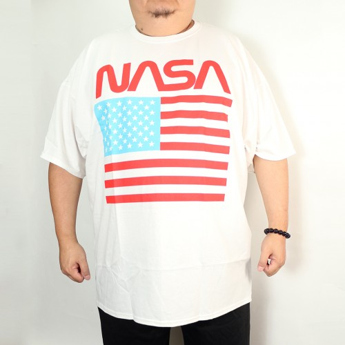 Nasa United State Flag Tee - White