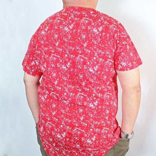 Allover Paint Splash Print Tee - Red