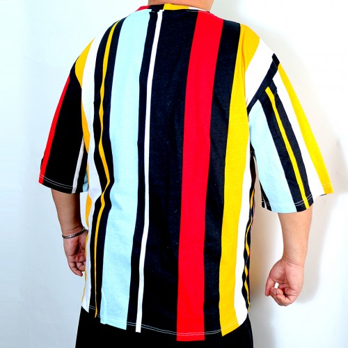 Color Block Stripe Tee - Multi