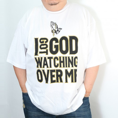 I Got God Watching Over Me Tee - White