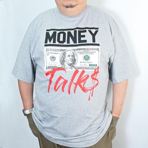 Money Talk Tee - Grey