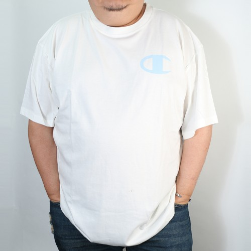 Colored Retro C Logo Tee - White/Blue