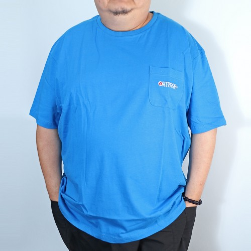 Simple Tengu Pocket Tee - Blue