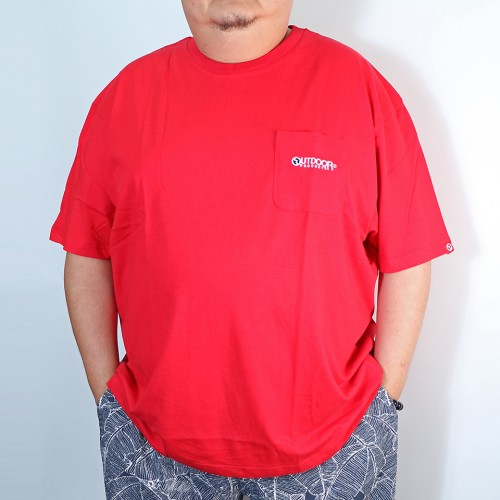 Simple Tengu Pocket Tee - Red