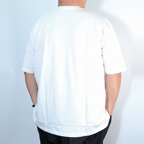 Simple Tengu Pocket Tee - White
