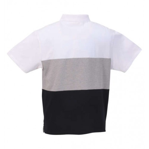 鹿の子 Switching Polo Shirt - White
