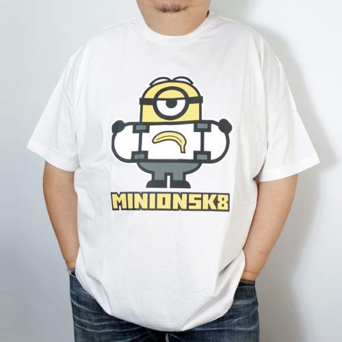 Minion SK8 Skateboard Tee - White