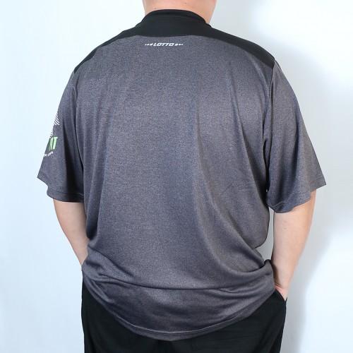 Dry Back Mesh Collar S/S Tee - Black