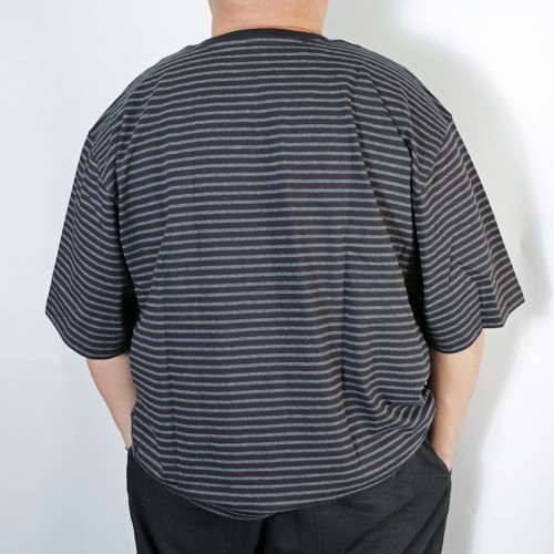 Simple S/S Pocket Tee - Black Stripe